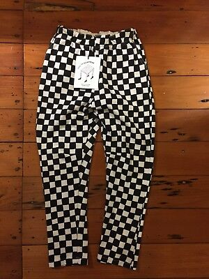 Bobo Choses Boys/girls Unisex Pants Black And White Check Size 6-7 BNWT RRP $85