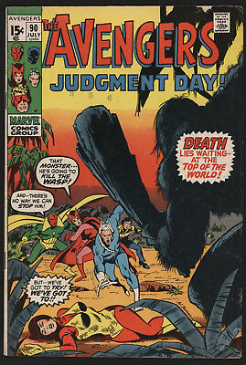 Avengers #90 July 1971, Versus Ronan The Accuser! Creamy To Off Whi