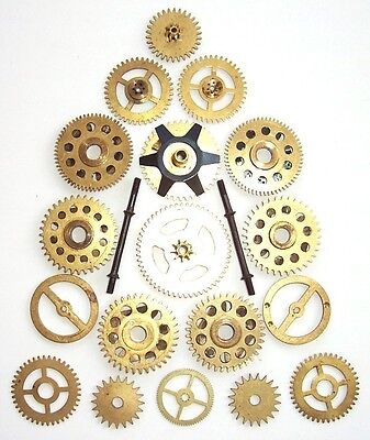 Imported From Abroad Assorted Clock Gears For Steampunk Art Crafts Collage Supplies