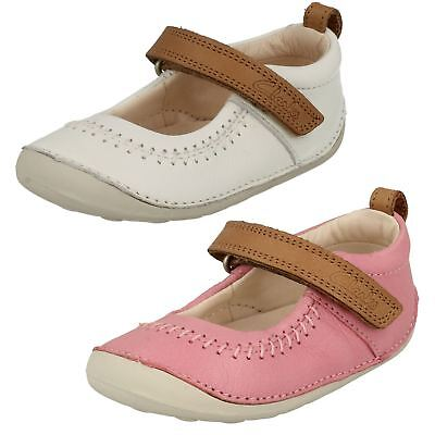 Infant Girls Clarks First Cruiser Hook & Loop Leather Shoes Little Atlas