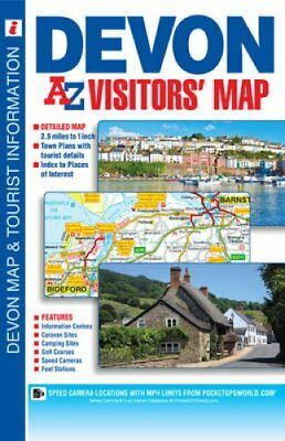 Devon Visitors Map by Geographers' A-Z Map Company 9781782570233
