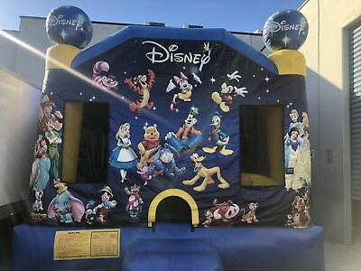 Commercial Jumping Castle World Of Disney With Slide Wet Or / Dry