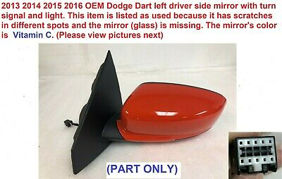 2013-2016 Dodge Dart LH Driver Side View Mirror Heated Turn Signal Blind Spot