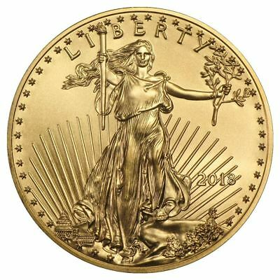 2018 American Gold Eagle 1/10 oz Gold Coin | Direct From US Mint Tube
