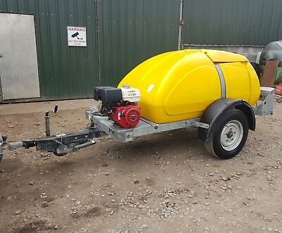 Bowser / Honda Gx390 13 Hp Industrial Petrol Pressure Washer Jet Power Trailer