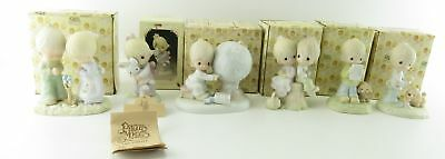 Vtg Lot of 6 Precious Moments Figurines Love One another Boy Patching World
