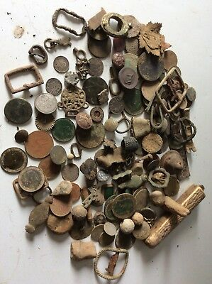 A Collection Of Uncleaned Metal Detecting Finds Incs Some Silver