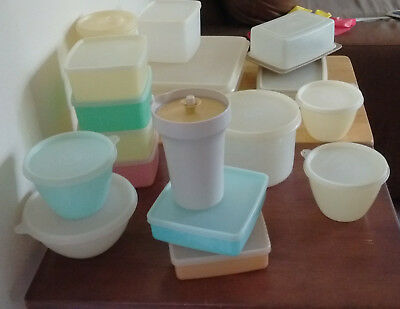 Vintage TUPPERWARE  Containers x 17 and  Lids