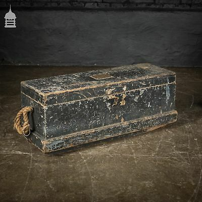 19th C Distressed Pine Shipwright's Tools Chest Box