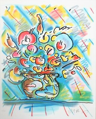 Peter Max - Untitled Flower - Original lithograph on paper