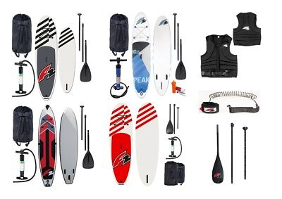 F2 SUP Stand Up Paddle Paddling Set - Board, Paddel, Pumpe, Bag, aufblasbar SALE