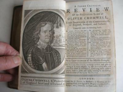 SHORT POLITICAL REVIEW OF OLIVER CROMWELL 3rded 1747 Lord Protector Commonwealth