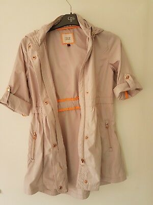 girls gorgeous TED BAKER light weight coat aged 10 years in cream