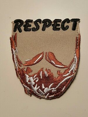 Respect the Beard tactical Morale patch combat  hook and loop military swat