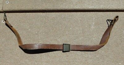 WW2 US Army Military M1 HELMET LINER Green Buckle Chin Strap