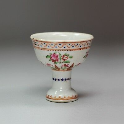 Antique Miniature Chinese famille rose stem cup, Qianlong (1736-95)
