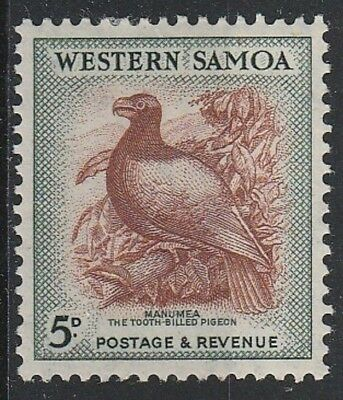 Western Samoa 1952  SG223 5d Brown & deep green LMH  cv£10  K9