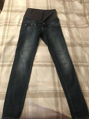 H&M Maternity Jeans UK 8- skinny over/under bump