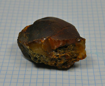 34+g Nice Real Natural Genuine Antique Old Egg Yolk Baltic Amber Stone Bernstein
