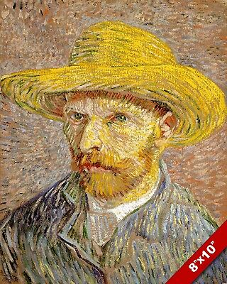 Vincent Van Gogh Artist Self Portrait Painting 8X10 Real Canvas Giclee Art Print