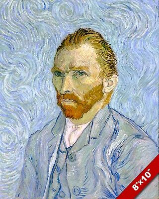 Vincent Van Gogh Self Portrait Painting 8X10 Real Canvas Giclee Art Print