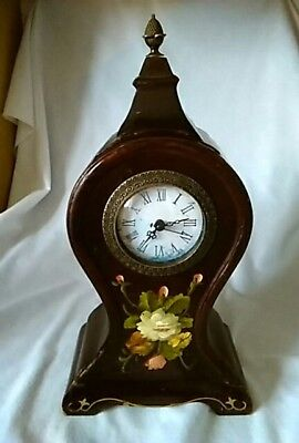 Hand Painted Wooden Mantel Clock