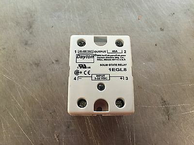 Dayton 1Egl8 Solid State Relay Input 4-32Vdc 40A 32V New 9C073114