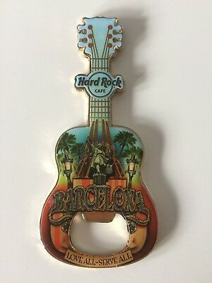 Hard Rock Cafe BARCELONA Bottle Opener Magnet NEU Flaschenöffner