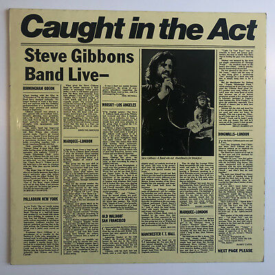 Steve Gibbons Band - Caught In The Act - Polydor – 2460 276 - Vinyl - MINT/NM