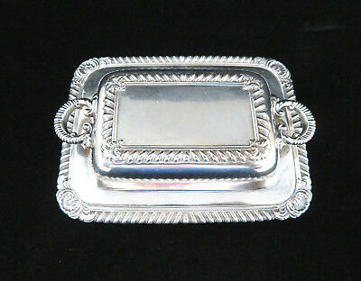 "4 3/8"" Miniature Silver Plated Covered Casserole / Butter Dish Salesman's Sample"