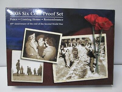 2005 Australia's 6 Coin Proof Set -- 60th Anniversary of the end of World War II