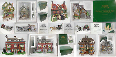 Dept 56 Collection, 24 Pcs Total, 4 Bldgs, 20 Acc, Free Ship In Contiguous Usa