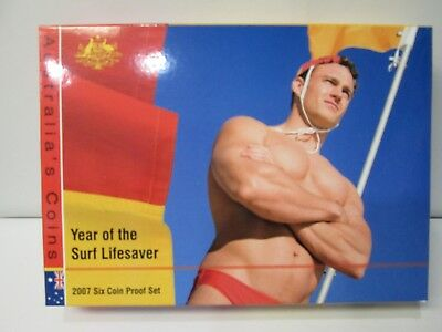 2007 Australia's 6 Coin Proof Set -- Year of the Surf Lifesaver