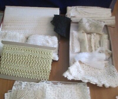 Huge lot of Antique & Vintage Lace trim