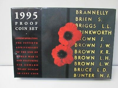 1995 Australian 6 Coin Proof Set -- 50th Anniversary of the end of WWII