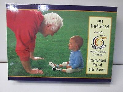 1999 Australian 6 Coin Proof Set -- International year of the Older Persons