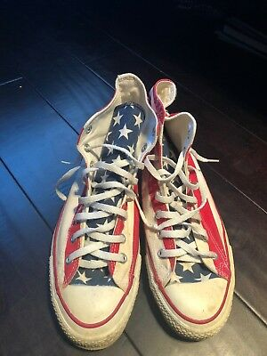Vintage Made in the USA American flag converse