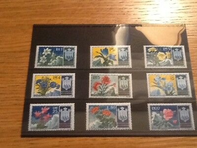 San Marino 1953 Stamps Flowers Complete Set Mint