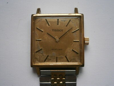 Vintage gents wristwatch TISSOT STYLIST mechanical watch working swiss made