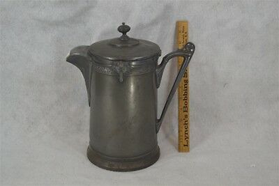 antique pitcher silver Reed Barton insulate coffee tea water ironstone Victorian