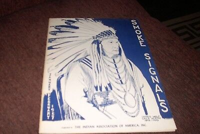 native american pamphlets 3 items -smoke signals-california indians -artwork