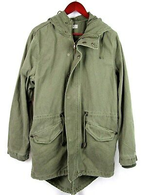 Charles And A Half Fishtail Parka Military Style Jacket Olive Green Sz Large