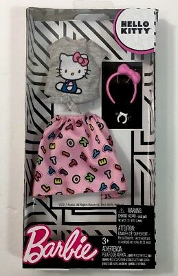 Barbie Hello Kitty Fashions Gray Top & Pink Skirt Fits My Melody, Chococat New