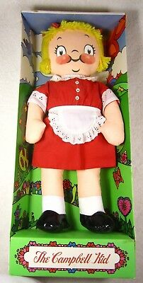 Campbell's The Campbell Kid ~ Girl Rag Doll ~ New ~ Open Box ~ 1973 ~ Red Dress