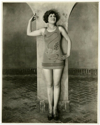 Vintage 1920s Swim Easy Bathing Beauty Model Flapper Jazz Age Pin-Up Photograph