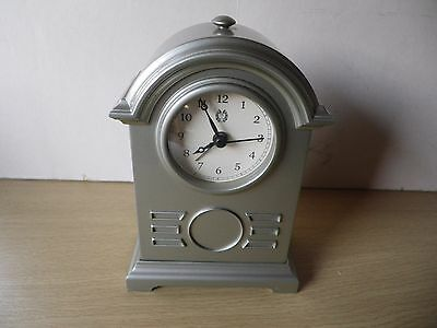 Flint Grey Carriage Clock With Alarm