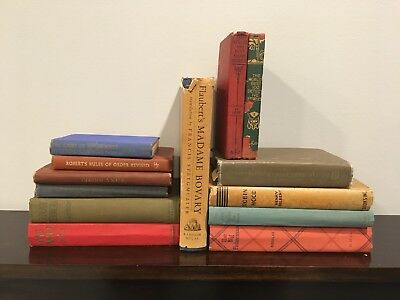 Lot of 13 ANTIQUE Random Books Collectible VINTAGE, Old, Antique