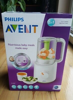 New in box Philips Avent 2-in-1 healthy baby food maker