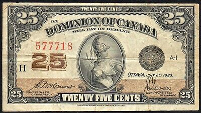Dominion of Canada 25 Cents 1923 McCavour/Saunders (P-11b / DC-24c)