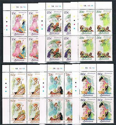 Bahamas 2011 Christmas Angels 6v PLATE BLOCKS SG 1594/9 MNH